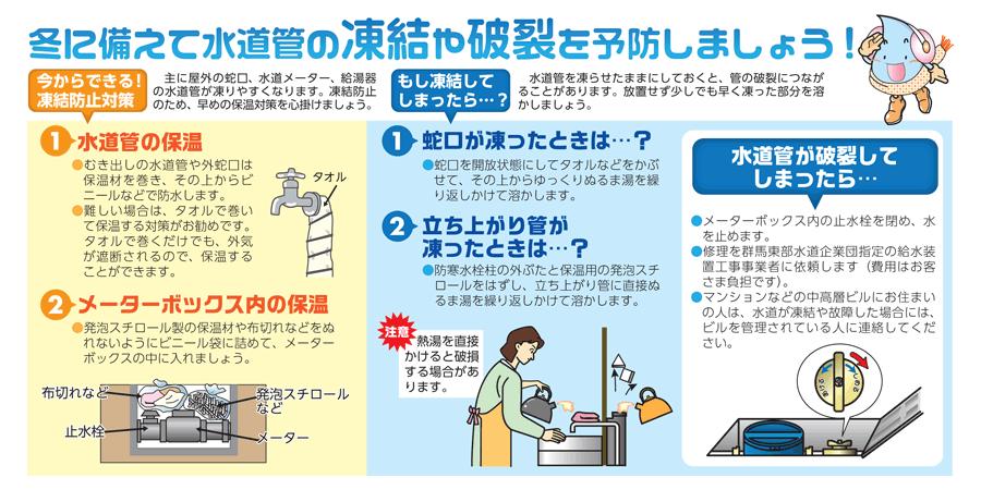 水道管の凍結にご注意ください!